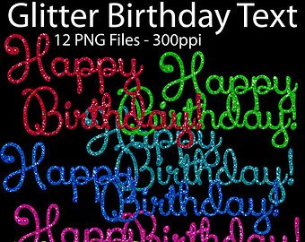 Clipart Geburtstag Clipart Happy Birthday Clipart Glitter Glitter