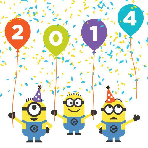 Clipart Minions New Year 2013 Wallpaper Downloads