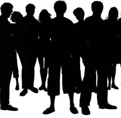 Crowd Of People Silhouette Crowd People Silhouette Square Jpg