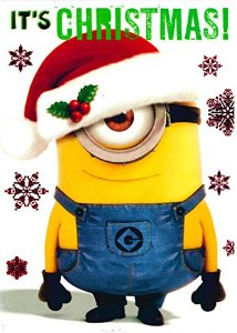 Despicable Me   Minion Phil   Christmas Card   Ch0060  Amazon Co Uk