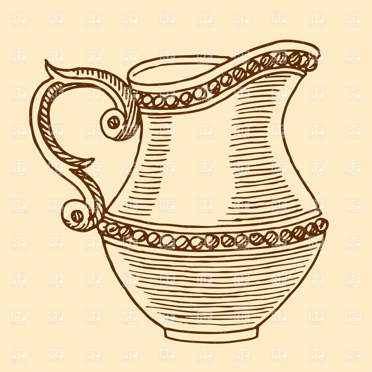 Line Art Jug : Old water jugs clipart suggest