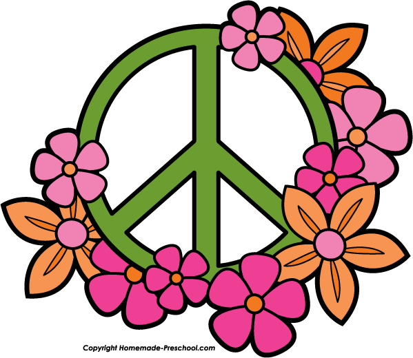 Home Free Clipart Peace Sign Clipart Peace Sign Flowers