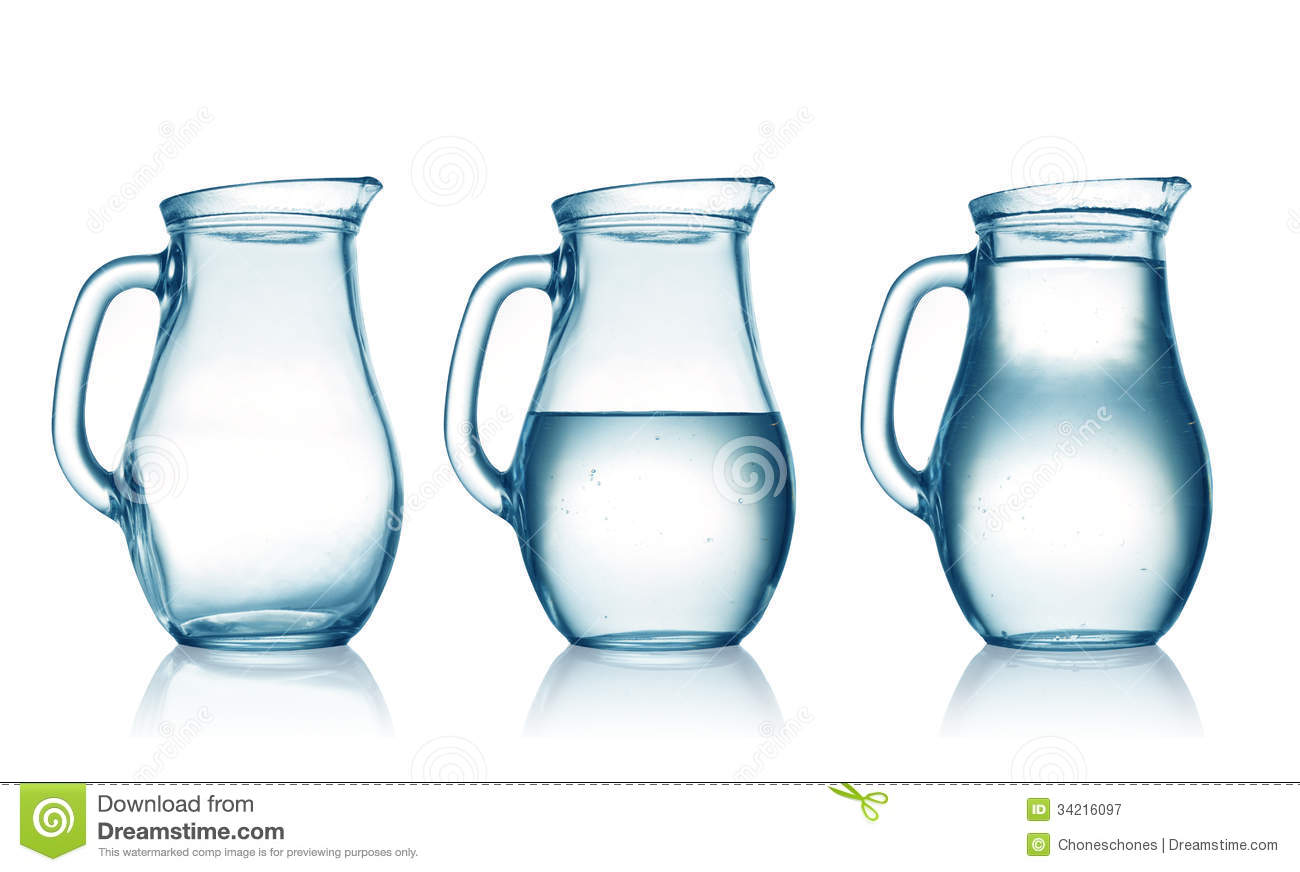 Jugs Empty Half Full Water Jug White 34216097 Jpg