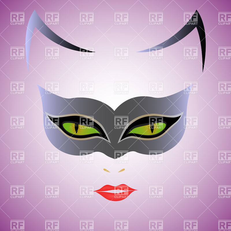 Mask Over Violet Background Download Royalty Free Vector Clipart  Eps