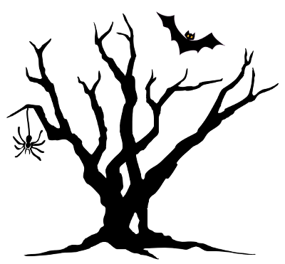 Spider Bat Tree   Http   Www Wpclipart Com Holiday Halloween Spooky