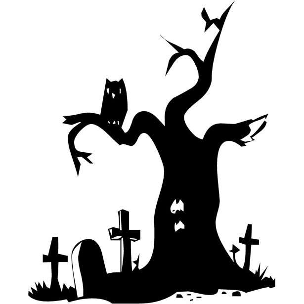 Spooky Halloween Tree Clipart   Free Clip Art Images