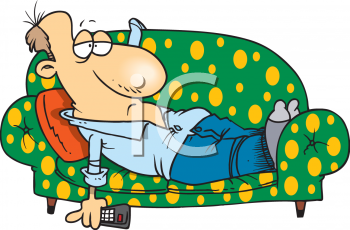 0511 0811 2015 2459 Lazy Man Laying On A Couch Clipart Image Png