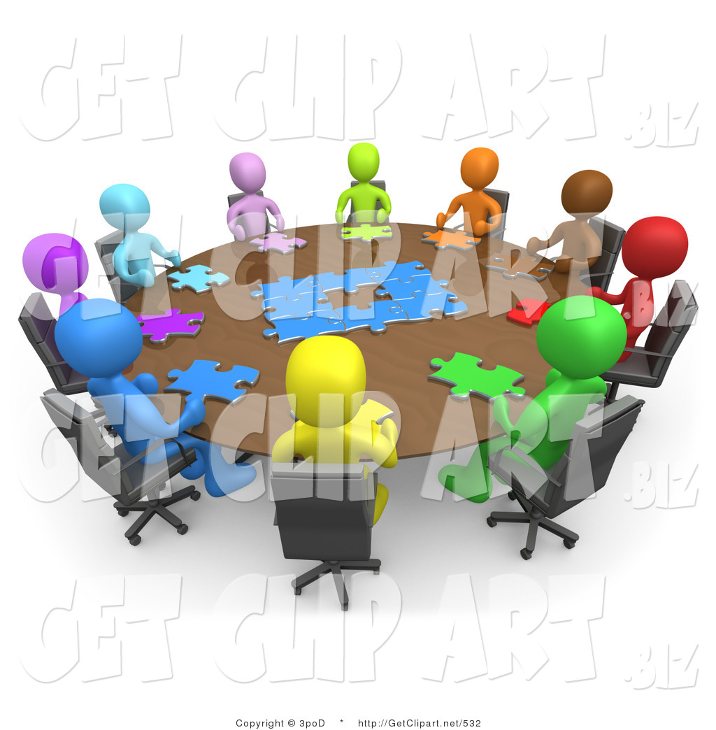 3d Clip Art Of A Group Of A Diverse And Colorful Group Of People