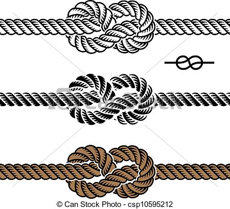 Art Of Vector Black Rope Knot Symbols Csp10595212   Search Clipart