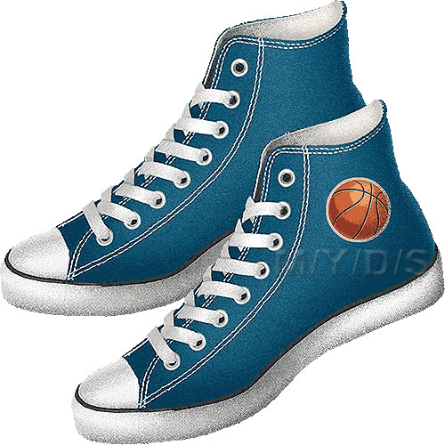 Basketball Shoes Clipart   Free Clip Art