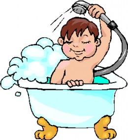 taking a bath clipart - photo #25