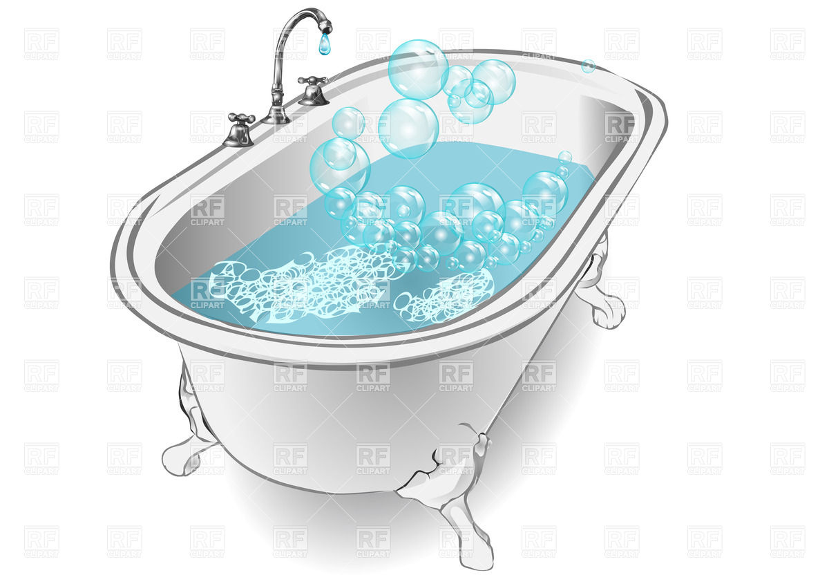 Bath On White Background Download Royalty Free Vector Clipart  Eps