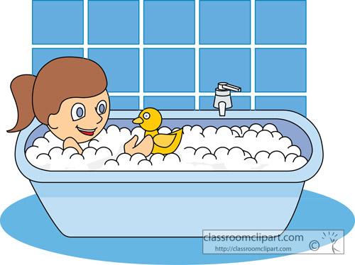 Clip Art Girl Bath Clipart Clipart Kid