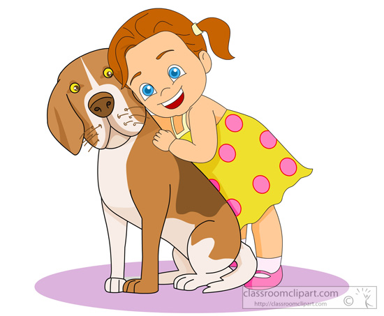 Girl With Pet Clipart - Clipart Kid