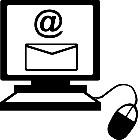 Email On Computer Clip Art At Clker Com   Vector Clip Art Online