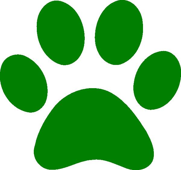 Green Paw Print Clip Art At Clker Com   Vector Clip Art Online