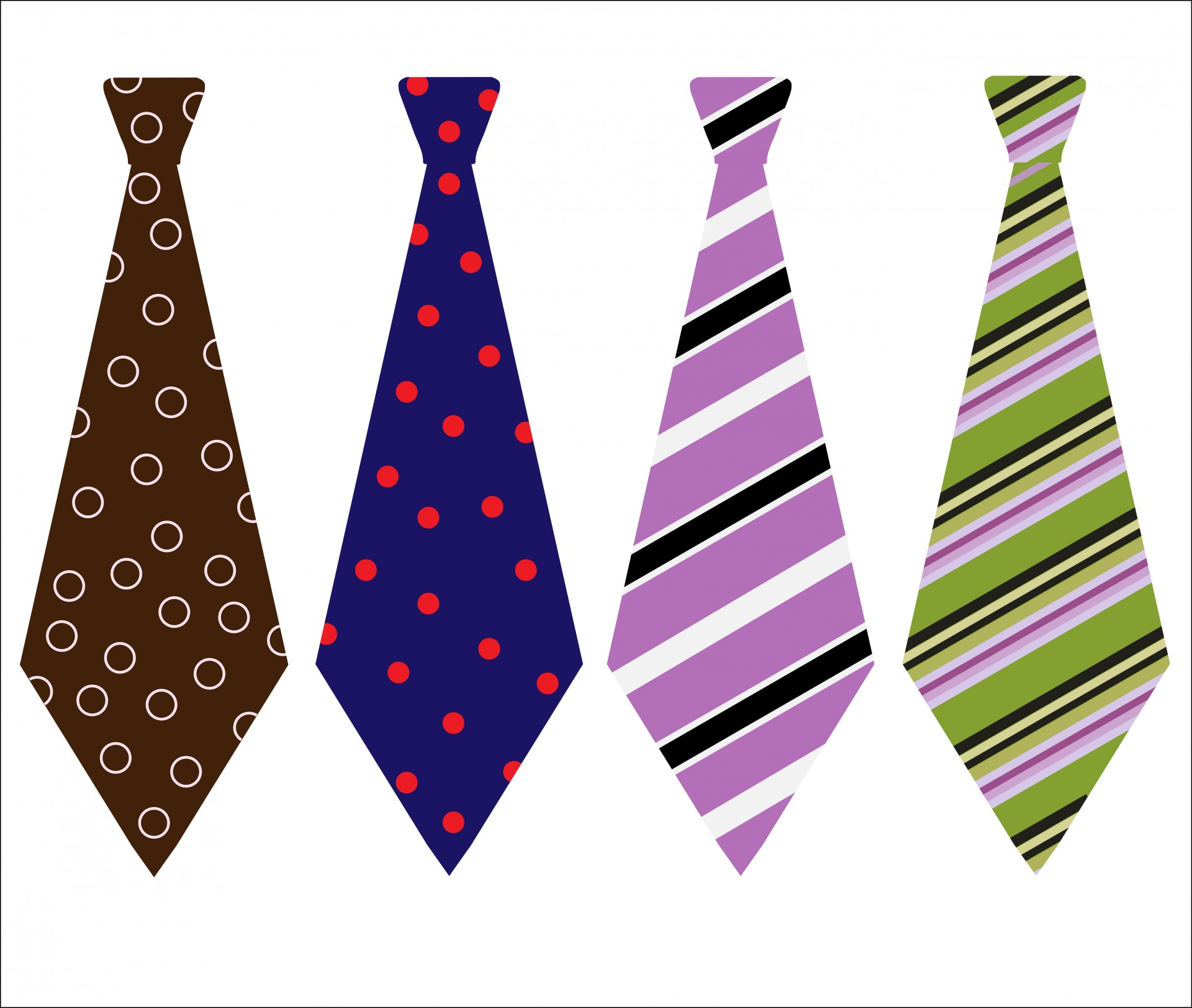 Neck Ties Clipart By Karen Arnold