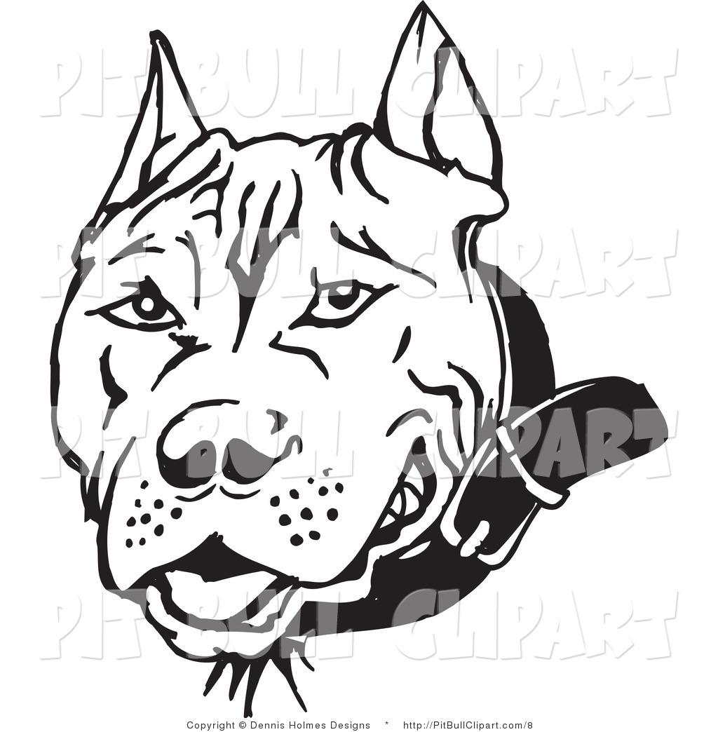 Black Pit Bull Clipart - Clipart Kid