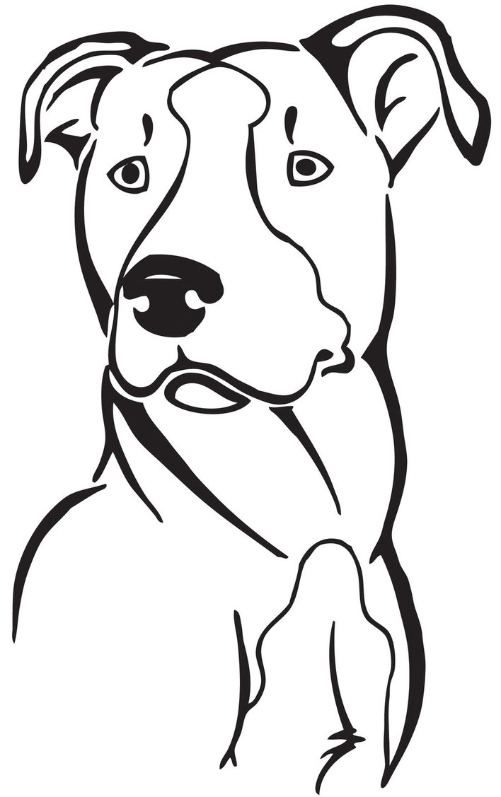 Nice Pit Bull Clipart - Clipart Kid