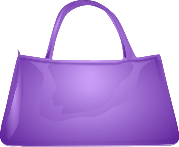 Purple Handbag Clip Art At Clker Com   Vector Clip Art Online Royalty