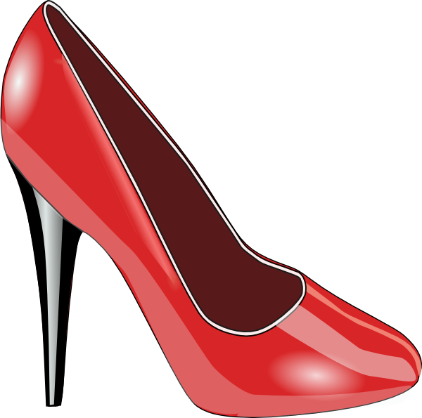 Red Patent Leather Shoe Clip Art At Clker Com   Vector Clip Art Online