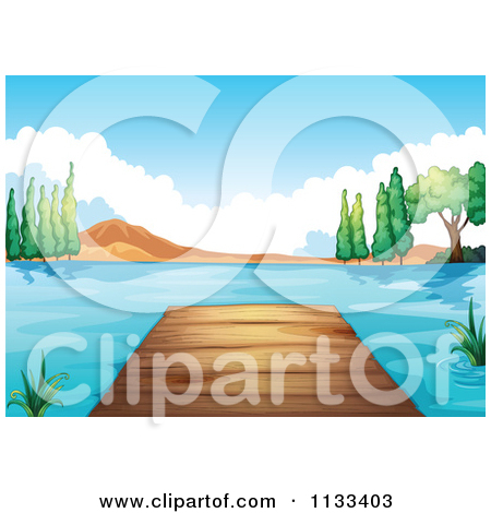 Royalty Free  Rf  Lake Dock Clipart Illustrations Vector Graphics  1