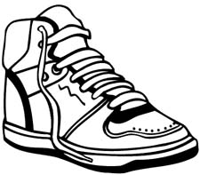 Clip Art Running Shoes Clip Art running shoes clipart kid panda free images