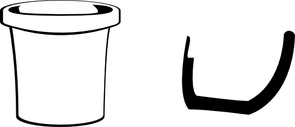 Bucket black and white clipart clipart suggest for Sand bucket template