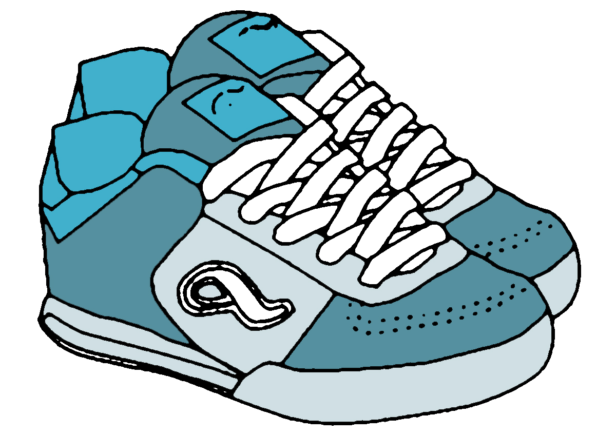 Clip Art Running Shoes Clip Art running shoes clipart kid black and white panda free images