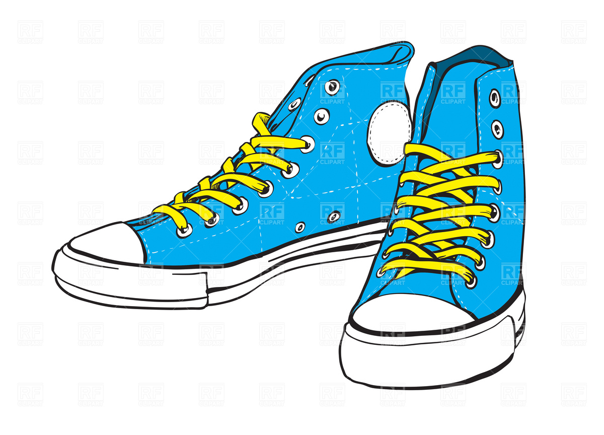 Clip Art Tennis Shoes Clipart - Clipart Kid