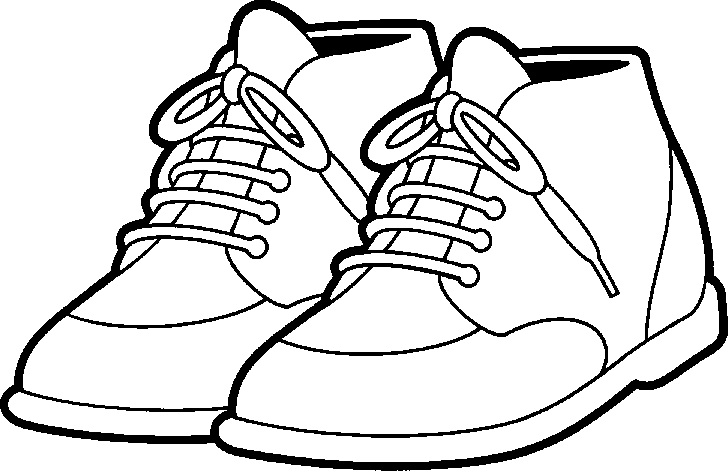Tennis Shoes Clipart Black And White   Clipart Panda   Free Clipart