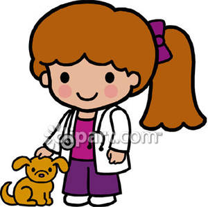 Vet Clipart A Veterinarian Wearing A Stethoscope Royalty Free Clipart