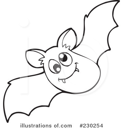 Bat Black And White Clipart Royalty Free  Rf  Flying Bats