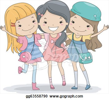 Clip Art Best Friends Clipart best friends clipart kid forever vector gg63558790 gograph
