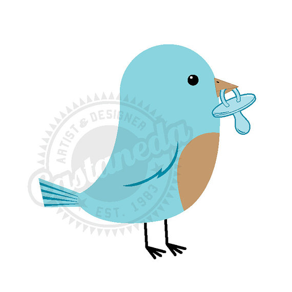 Blue Bird For Baby Boy Clipart By Gloriacastaneda On Etsy