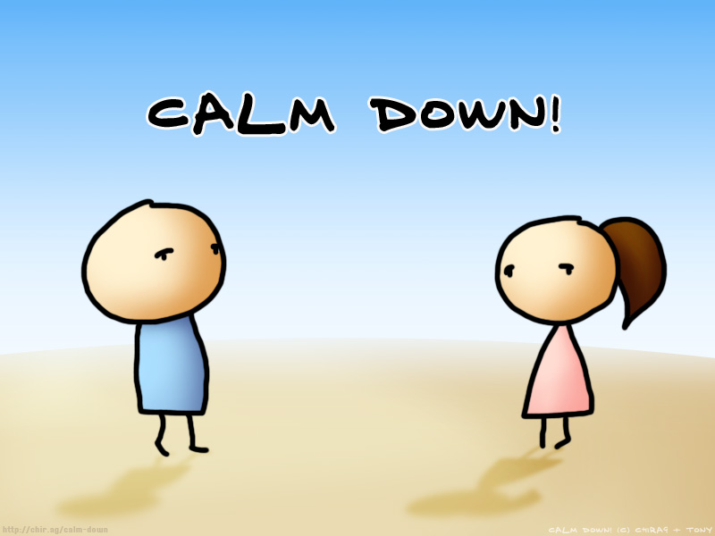 Calm people clipart