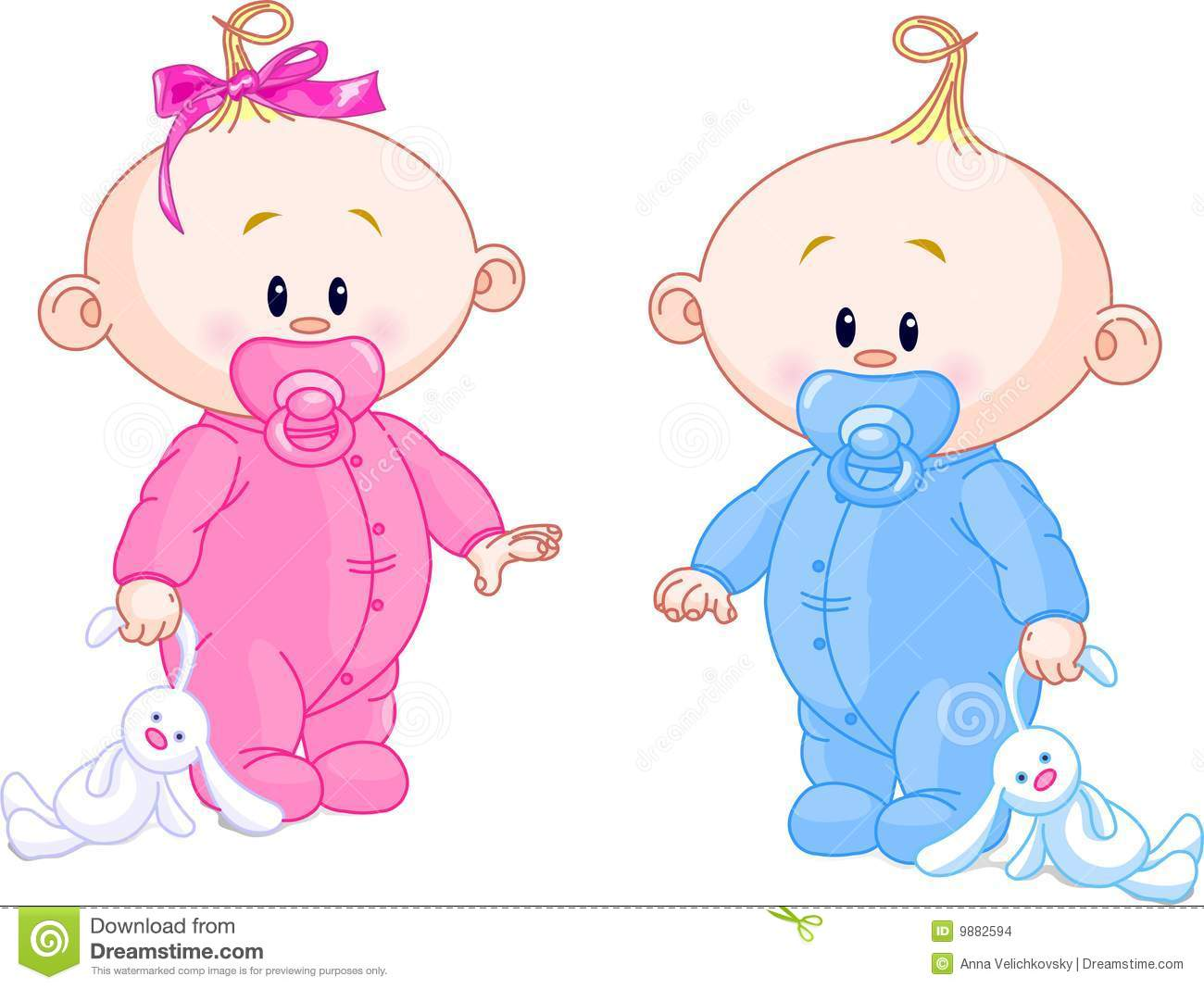 Cute Baby Girl Clipart Twin Baby Boy And Girl With