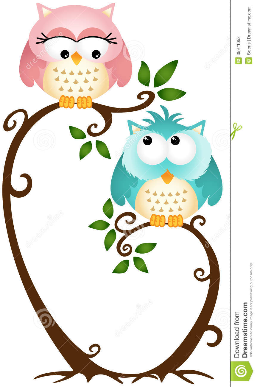 Cute Fall Clip Art Cute Owl On Tree Clipart Cute Couple Owls Tree