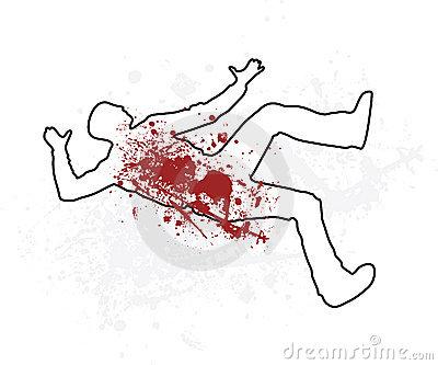 Dead Man Outline Clipart - Clipart Kid