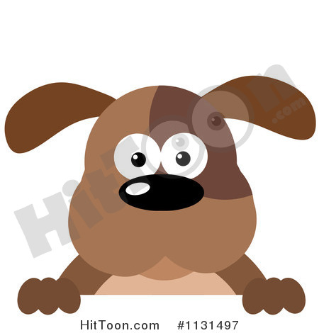 Dog Clipart  1131497  Brown Dog Over A Sign By Hit Toon