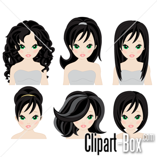 Free Vector Art Graphics Paint Design Graphic Long Hairstyles