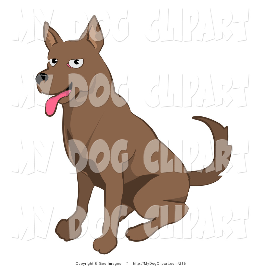 Friendly Brown Dog Panting Dog Clip Art Geo Images