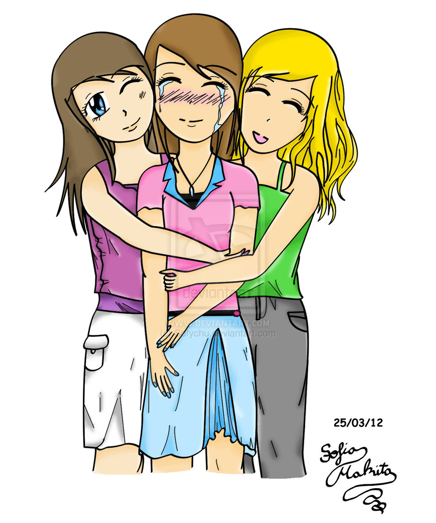 Friends Hugging Drawing Clipart Panda Free Clipart Images ...