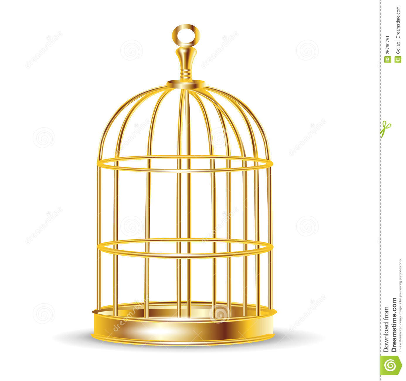 Golden Bird Cage Stock Image   Image  25799751