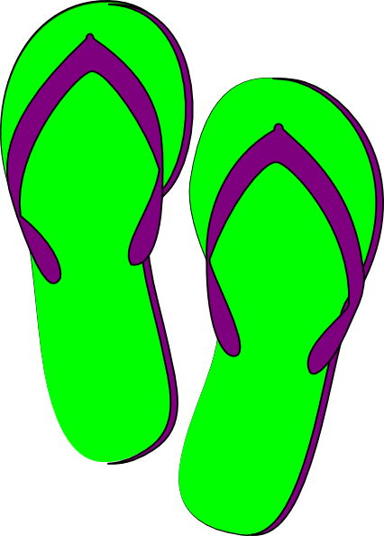 Clip Art Flip Flops Clip Art flip flop clipart kid green purple flops clip art