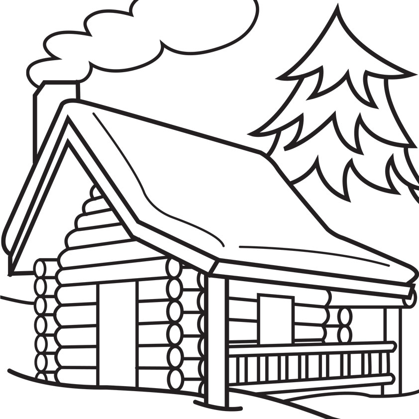 Clip Art Log Cabin Clip Art clip art black and white log cabin clipart kid panda free images