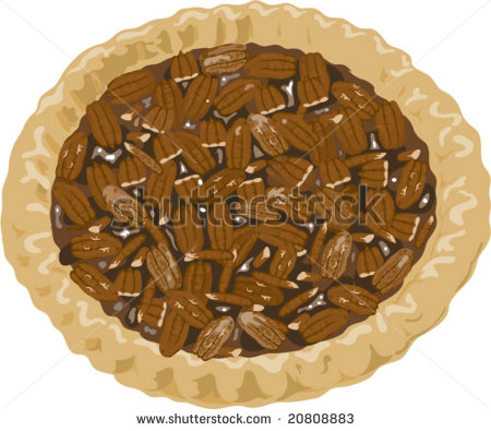 Pecan Clip Art Pecan Pie Illustration   Stock Vector Pecan Pie