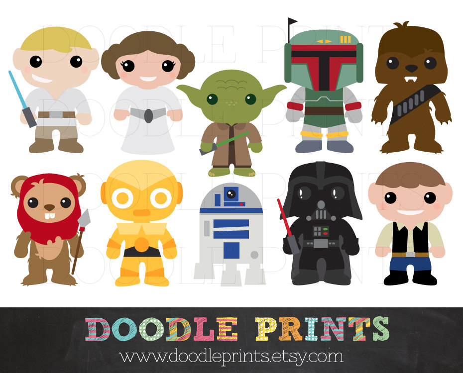Clip Art Starwars Clipart star wars characters clipart kid request a custom order and have something made just for you