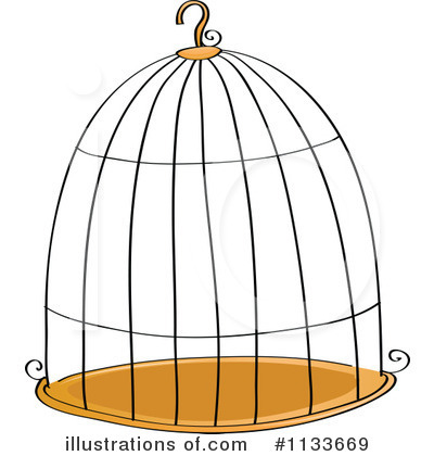 Royalty Free  Rf  Bird Cage Clipart Illustration By Colematt   Stock