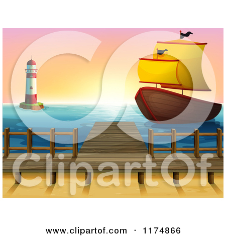 Royalty Free  Rf  Pier Clipart   Illustrations  2